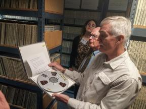 """I couldn't get enough of the tape archive! Can you read all these names??!! #freshairarchives @ArchMonthPhilly."""