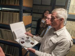 """""""I couldn't get enough of the tape archive! Can you read all these names??!! #freshairarchives @ArchMonthPhilly."""""""
