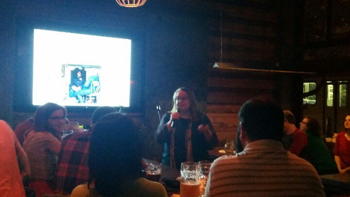 Erin Bernard speaking at Nerd Nite 2016