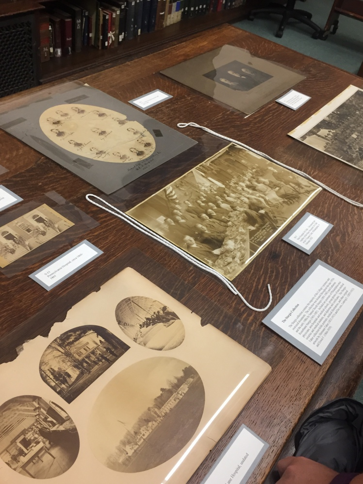 Photographs on display at the College of Physicians library