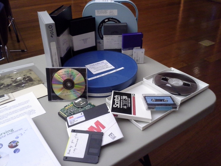 obsolete media on display