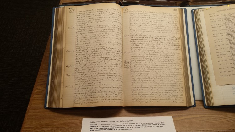 handwritten bound chronicle