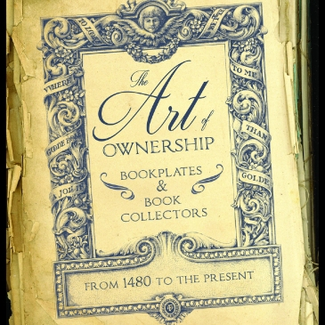 "Exhibit signage from the Rosenbach's ""The Art of Ownership"""