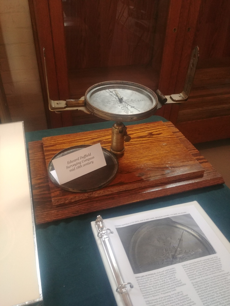 The Duffield survey compass was stored in the historical society's basement for years before being restored by an expert in colonial instruments.