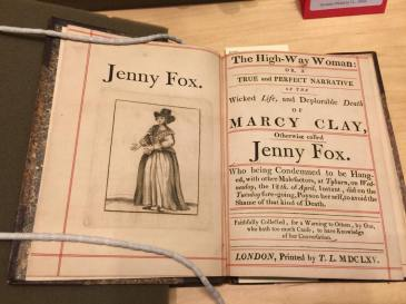 "Picture of ""The High-Way Woman: or a True and Perfect Narrative of the Wicked Life, and Deplorable Death of Marcy Clay, Otherwise called Jenny Fox."""